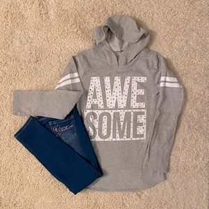 Guess Jeggings and Justice Hoodie bling bundle